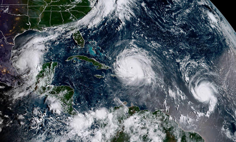Soufflés par l'ouragan «Irma»