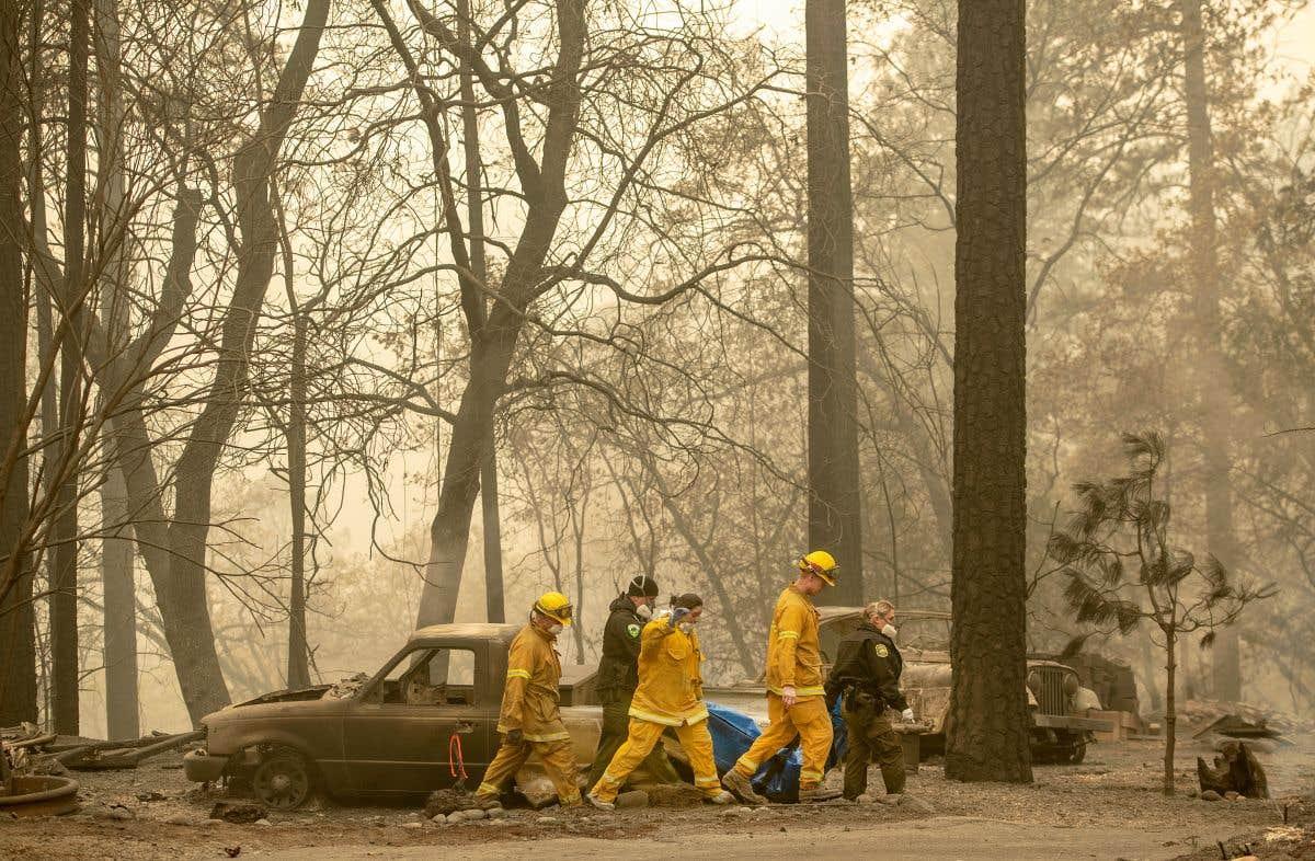 Un œil sur les feux en Californie