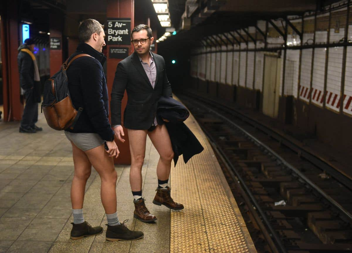 L'anecdote du jour: «No Pants Subway Ride»