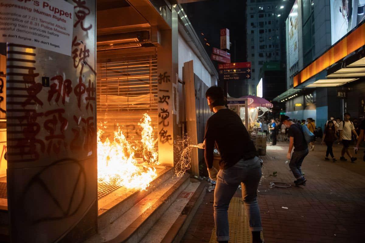 Actions de manifestants pro-démocratie à Hong Kong