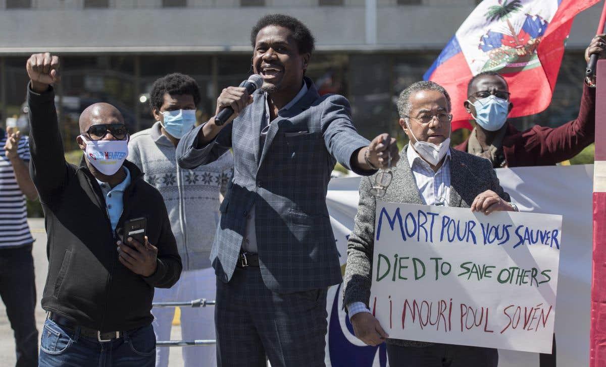 Une manifestation en soutien aux «anges gardiens» demandeurs d'asile