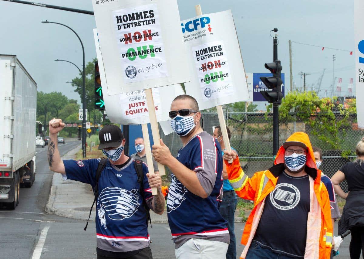 Grève au port de Montréal