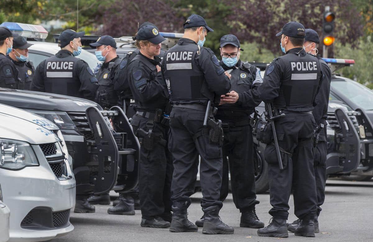 Manifestation pour le définancement de la police à Montréal