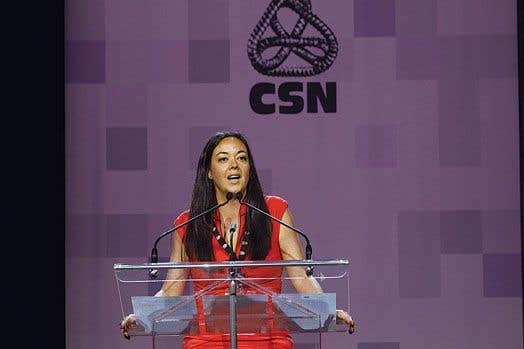 La vice-présidente de la CSN, Véronique De Sève