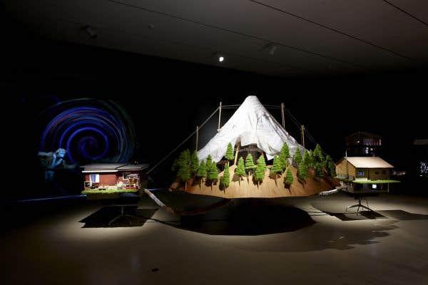 Graeme Patterson,The Mountain, 2013, installation. Vue de l'installation à la Art Gallery of Hamilton.