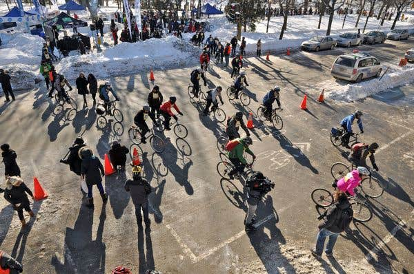 L'événement Vélo sous zéro, organisé par Vélo Québec l'hiver dernier, avait été un succès: 500 cyclistes s'étaient rassemblés pour cette randonnée hivernale sur deux roues.