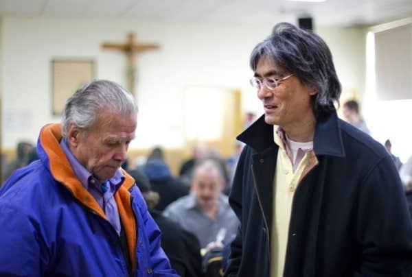 L'Accueil Bonneau a reçu la visite du chef d'orchestre Kent Nagano, le 13 décembre 2012.