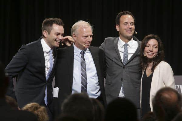 Les quatre candidats à la chefferie du PQ ont participé à un dernier débat le 3 octobre, le premier organisé par «Le Devoir».