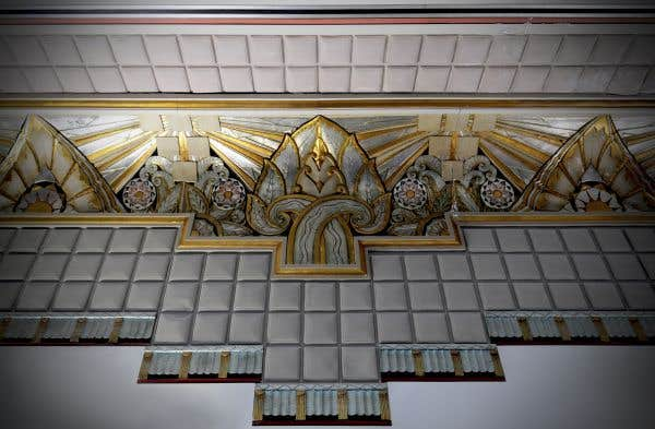 Détail du plafond du Théâtre Snowdon, 1937