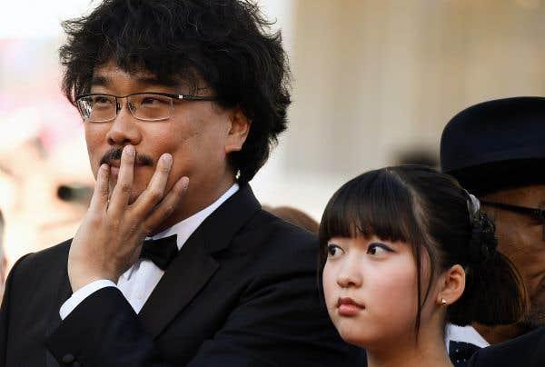 Le réalisateur Bong Joon-ho et la comédienne Ahn Seo-hyun