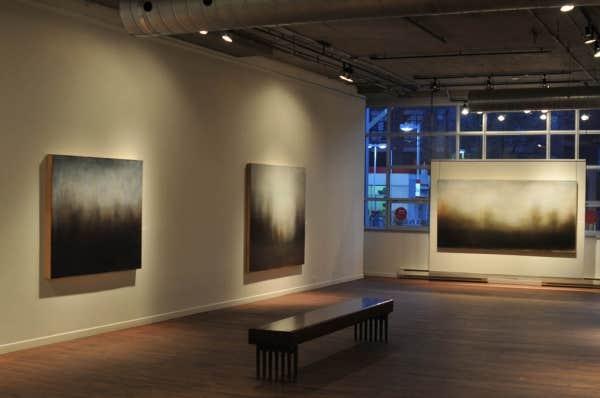 Une vue générale de l'expo de Dominique Goupil à la galerie Simon Blais
