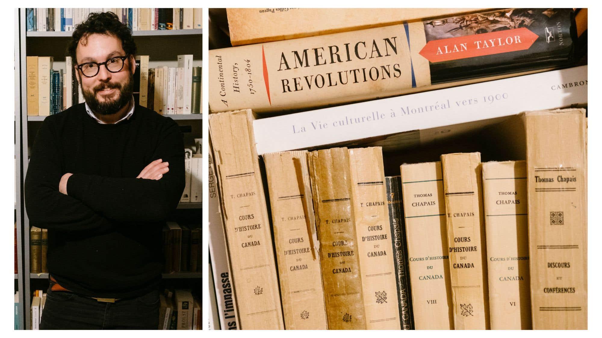 Institutiones philosophicae ad usum studiosae juventutis de Jérôme Demers est le livre que Jonathan Livernois est le plus fier de posséder. Datant de 1835, il s'agit «du premier traité ou manuel de philosophie écrit au Québec. Le père Demers enseignait au Séminaire de Québec; il a été notamment le professeur de Louis-Joseph Papineau». Le professeur d'histoire littéraire et intellectuelle à l'Université Laval conserve dans sa biblio essentiellement des essais et de la littérature québécoise; une biblio qu'il a commencée avec Les patriotes de 1837-1838 de Laurent-Olivier David (1937). «Il appartenait à mon grand-père paternel. Je l'ai récupéré au début des années 1990.» Sa dernière acquisition? Dérapages poétiques, volume 1 (Atelier 10).