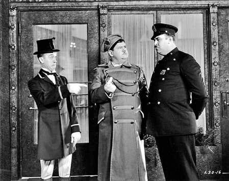 Laurel et Hardy dans Double Whoopee<br />