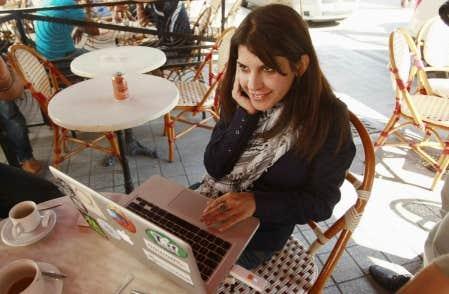 La blogeuse tunisienne Lina ben-Mhenni<br />