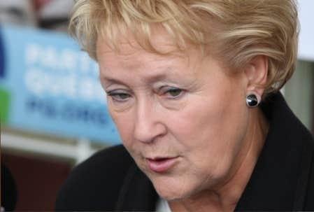 La chef du Parti québécois, Pauline Marois
