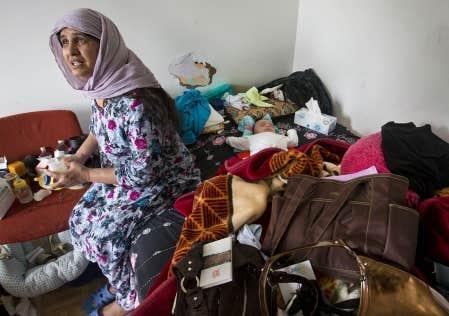 Saeed Bibi et les autres membres de sa famille doivent quitter leur logement aujourd'hui.