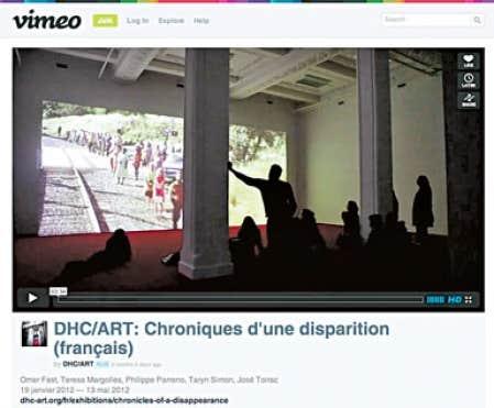 L'exposition Chroniques d'une disparition, dernière en date de la fondation montréalaise DHC/ART