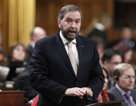 Thomas Mulcair estime que le Canada est affecté par le syndrome hollandais.