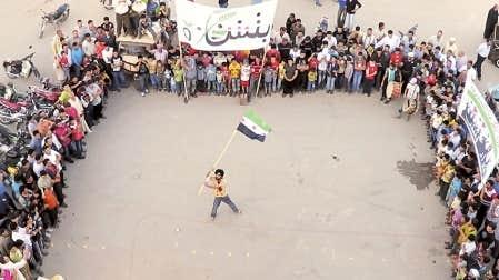 <div> Des manifestations ont &eacute;t&eacute; organis&eacute;es hier &agrave; Binsh, dans le nord de la Syrie, apr&egrave;s la pri&egrave;re du vendredi.</div>