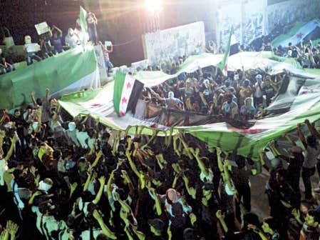 <div> Mardi soir, la capitale, Damas, a &eacute;t&eacute; le th&eacute;&acirc;tre de manifestations d&rsquo;opposants.</div>