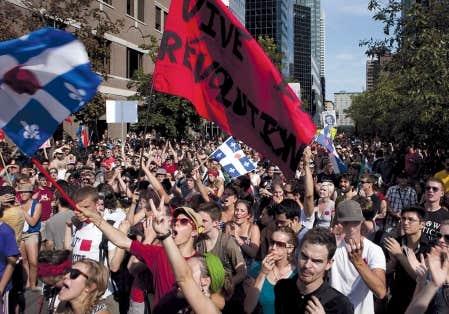 Les participants étaient nombreux, hier, à Montréal, à l'occasion de la 160e journée de contestation sociale et de la 5e manifestation nationale du 22 du mois.