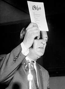 L'ancien premier ministre du Québec Jean Lesage, avec lequel est née la Révolution tranquille.