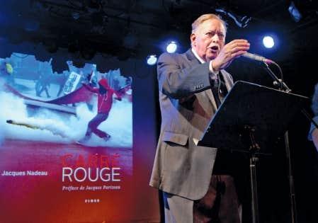 <div> Jacques Parizeau au lancement du livre de Jacques Nadeau au Lion d&rsquo;or.</div>