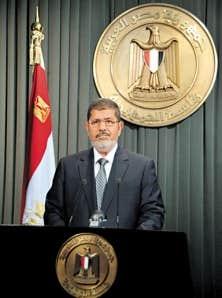 Mohamed Morsi peu avant son allocution télévisée, mercredi