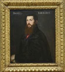 Un portrait de Daniele Barbaro (1514-1570), par Tiziano Vecellio dit Le Titien (Italie, 1488 -1576), réalisé en 1545 (huile sur toile 85,8 x 71,5 cm) a été acheté en 1928 par le Musée des beaux-arts du Canada, à Ottawa.
