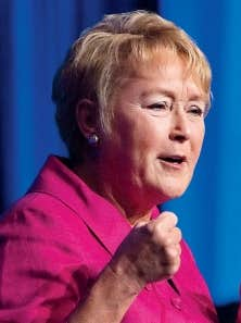 Pauline Marois lors du conseil national du Parti québécois samedi