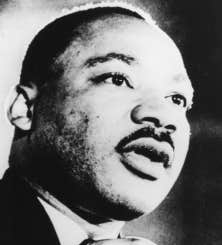 Le révérend Martin Luther King Jr.