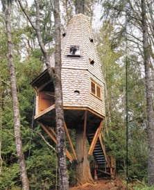 La cabane d'Island Wood, Bainbridge Island, Washington, États-Unis