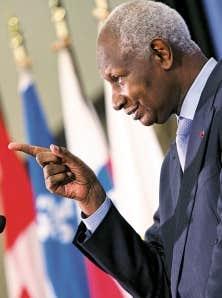 Le secrétaire général de la Francophonie, Abdou Diouf