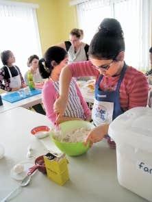 Un atelier de cuisine à la Maison de quartier de Fabreville