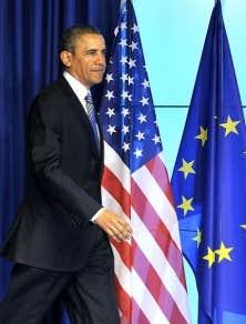 Barack Obama a participé au sommet UE–É.-U., tentant au passage de rassurer les parlementaires européens inquiets des conséquences d'un accord de libre-échange entre les deux économies.