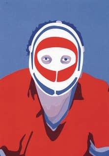 Une illustration de Julien Del Busso tirée du livre Langue de puck. Abécédaire du hockey, dans lequel le professeur de littérature Benoît Melançon présente les mots du français québécois sportif.