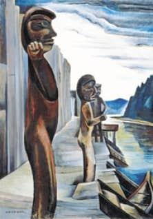 Emily Carr, Blunden Harbour, v. 1930, huile sur toile. Musée des beaux-arts du Canada, Ottawa