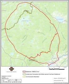 Le territoire réclamé par les Atikamekws.