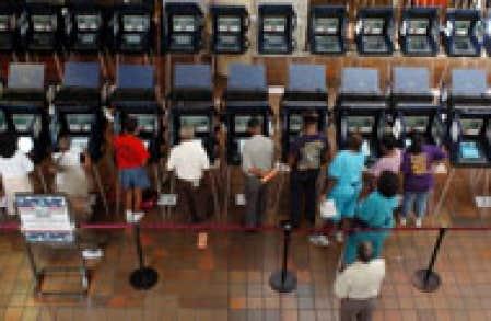 Calculé en pourcentage des inscrits, le taux de participation aux élections présidentielles américaines atteint souvent... les 70 %.