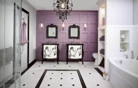 La maison cl en main le devoir - Tapisserie salle de bain ...