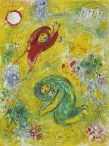 Les fleurs saccagées, v.1956-1961. Œuvre du peintre franco-russe Marc Chagall qui sera présentée au MBAC à partir du 28mai.