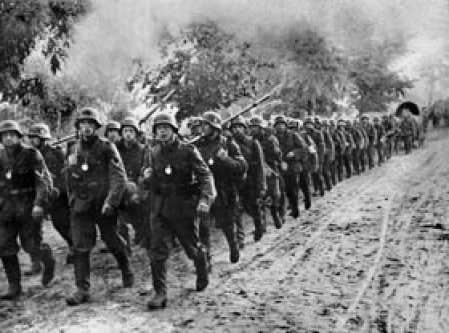 L'armée allemande entrant en Pologne en septembre 1939.