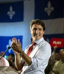 Le chef libéral, Justin Trudeau