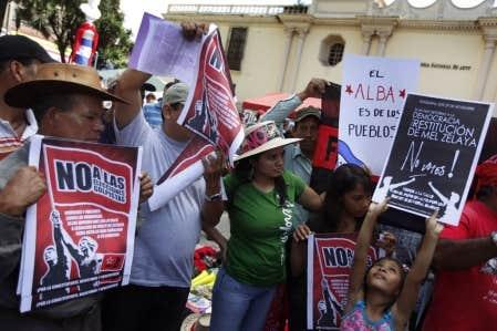Les partisans de Manuel Zelaya poursuivent depuis cinq mois leurs protestations.
