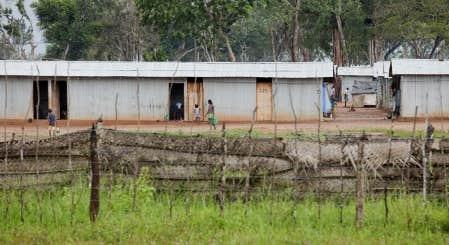 Camp Menik Farm, où plus de 300 000 Tamouls ont été détenus.