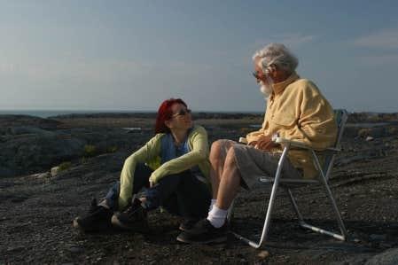 Chloé Sainte-Marie et Gilles Carle dans le film de Charles Binamé intitulé Gilles Carle ou l'indomptable imaginaire