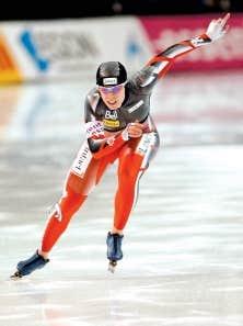 La Canadienne Christine Nesbitt a remporté sa deuxième médaille en deux jours.