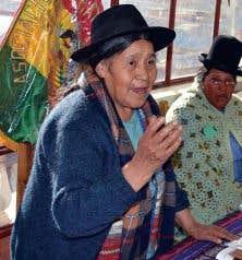 Antonia Rodriguez Medrano, fondatrice de l'Asociación Artesanal Boliviana Señor de Mayo (ASARBOLSEM)