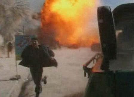 Des images des attentats provenant d'une télévision locale