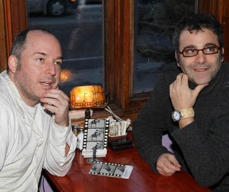 Les concepteurs de la dernière création du Loup bleu, Antoine Laprise et Jacques Laroche